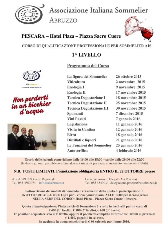 Pescara 1° livello locandina SABRINA BIS