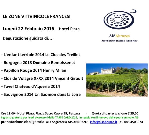 LE ZONE VITIVINICOLE FRANCESI 22.02.16