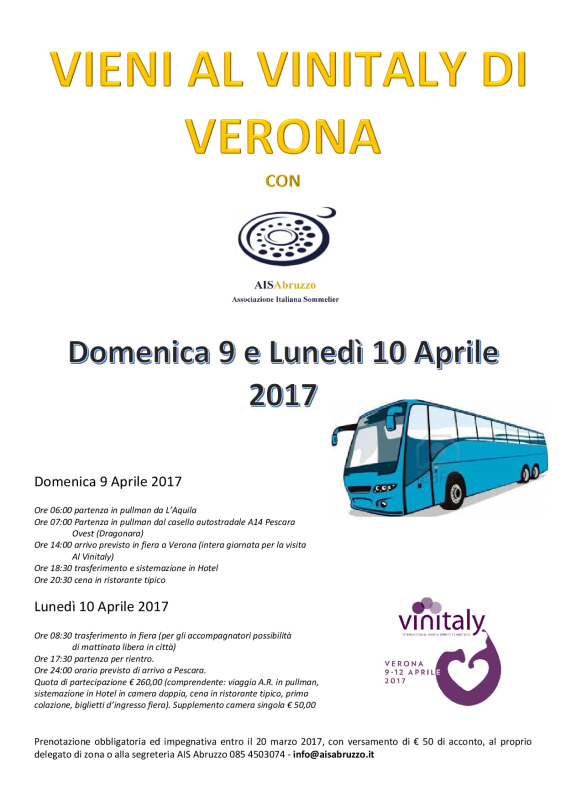 locandina tour vinitaly 2017