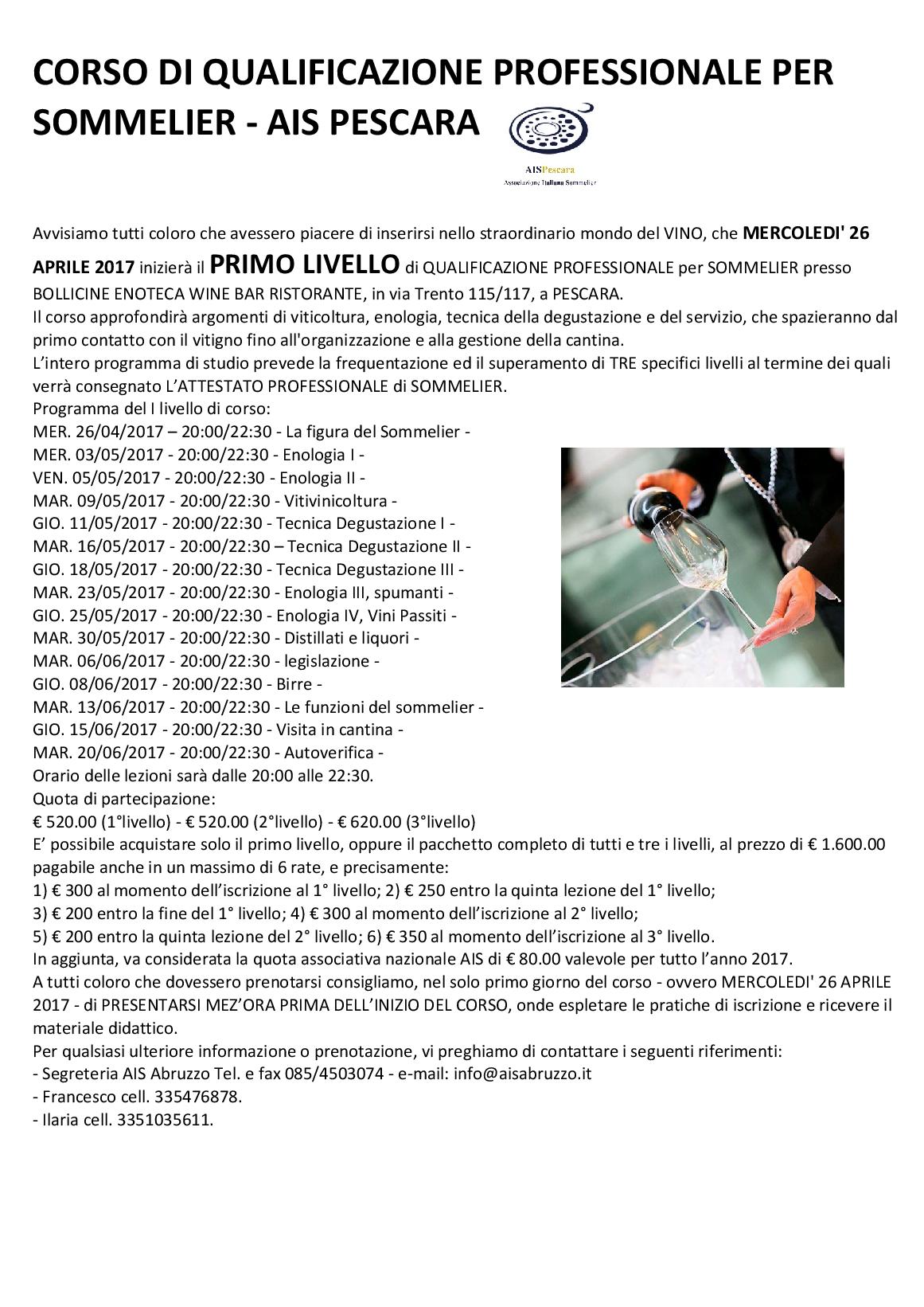 LETTERA INIZIO PRIMO LIVELLO PESCARA26apr