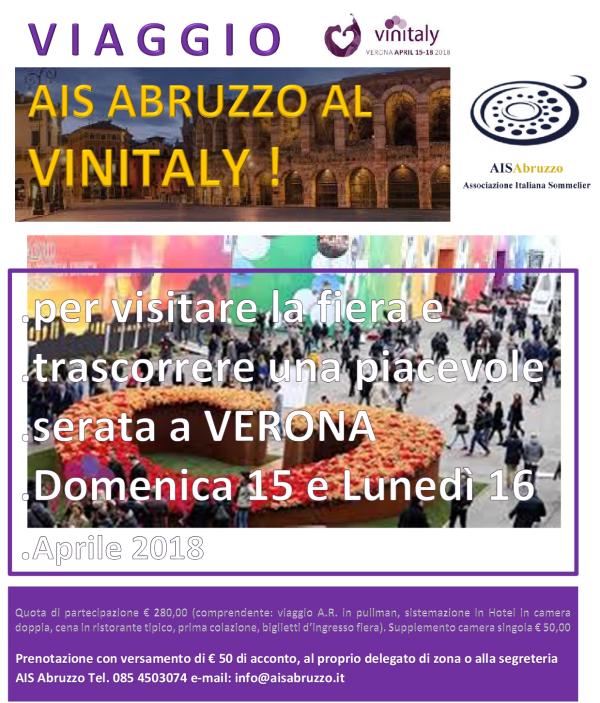 locandina tour vinitaly 2018