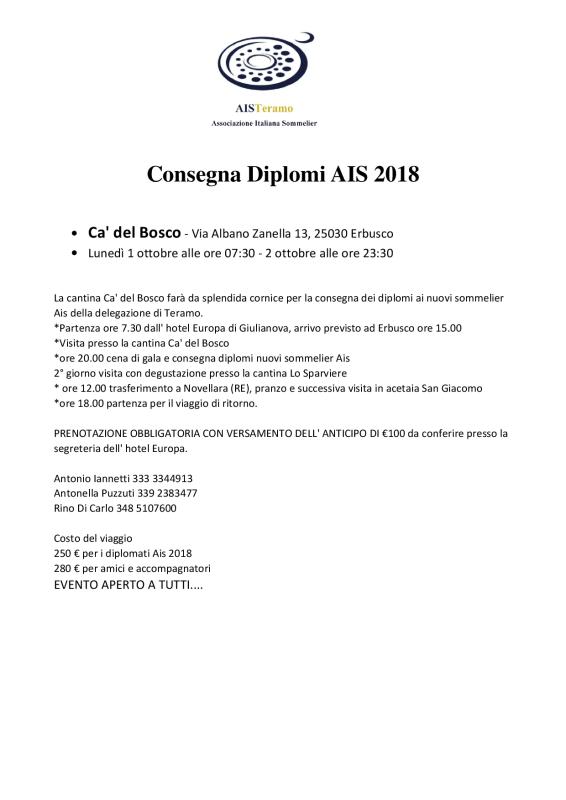 Consegna Diplomi AIS 20181
