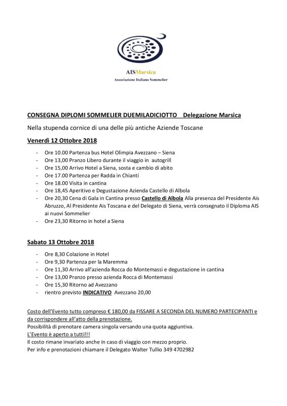 Consegna Diplomi AIS 20184