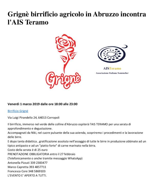 Grignè birrificio agricolo in Abruzzo incontra l