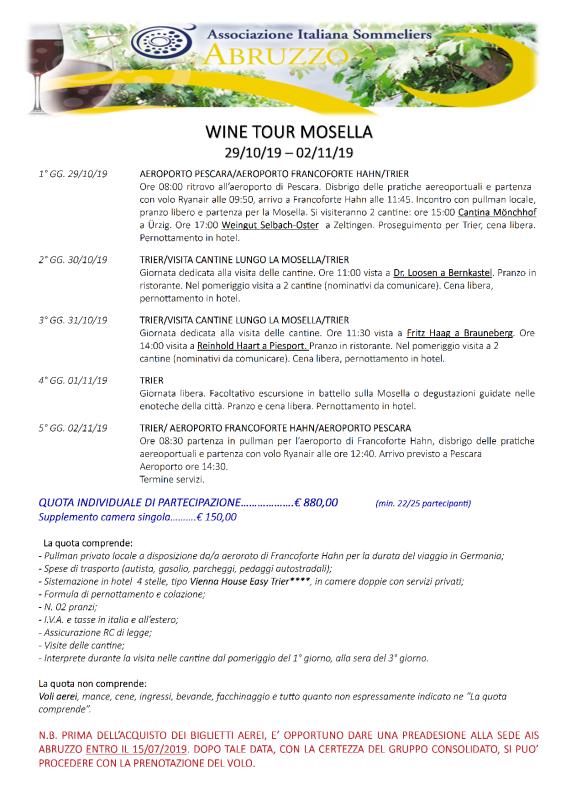 PROGRAMMA WineTourMosella2019