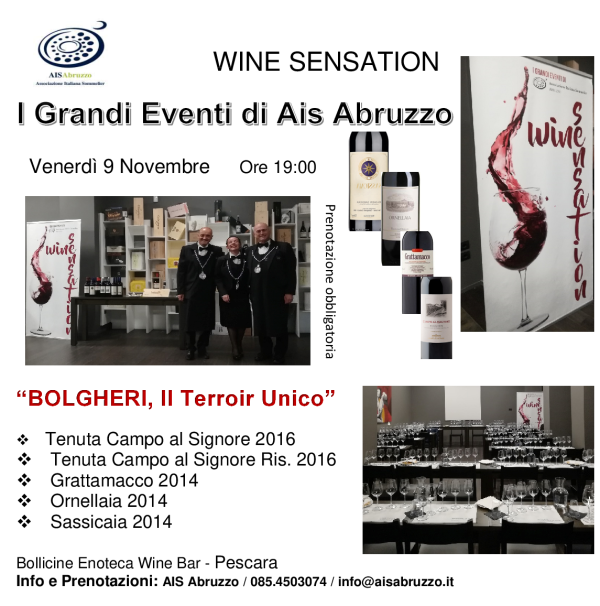 WINE SENSATION BOLGHERI9NOV